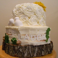 Coral Raffia Wedding Cake Coral Raffia Wedding Cake