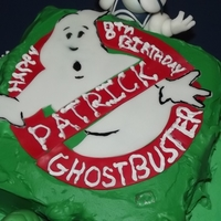 Ghostbusters Cake This is a Slimer cake requested by a very active 8 year old boy for his party. He wanted green slime, and the Ghostbusters characters on...