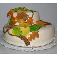 Falling Leaves Falling Leaves I made this cake for a 98th birthday celebration for my favorite adopted Grandma. Fall is her favorite time of year and she...