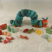 Edible Handcrafted The Very Hungry Caterpillar Cake Topper