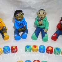 Edible Handcrafted Jls Cake Toppers