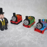 Edible Handcrafted Thomas The Tank Engine Cake Topper