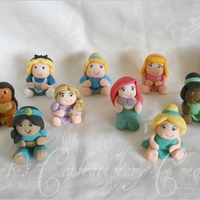 Simple Edible Chunky Baby Disney Princess Cake Toppers