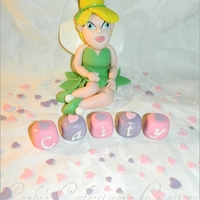 Edible Handcrafted Tinkerbell Cake Topper