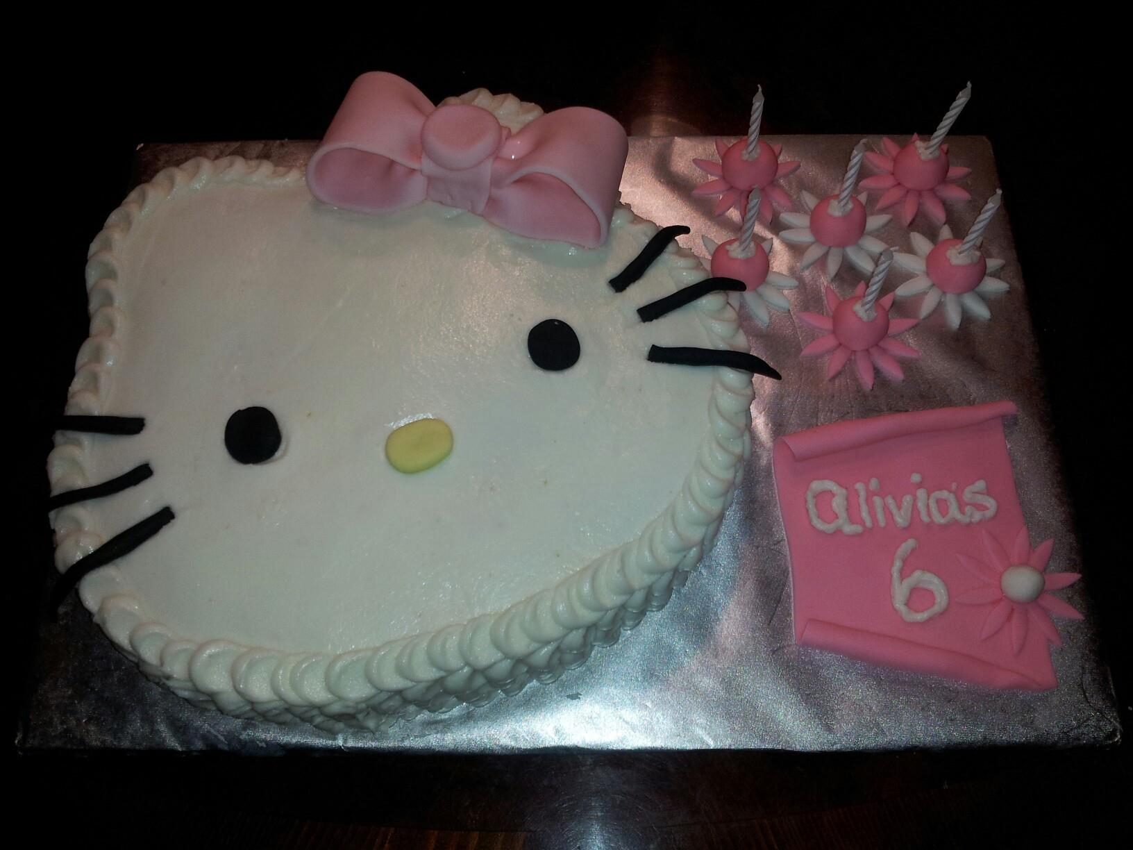 Hello Kitty Buttercream Birthday Cake *Buttercream frosting, and fondant accents