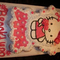 Hello Kitty Cupcake Cake 24 cupcakes, buttercream frosting, fondant accents