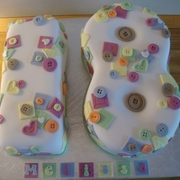 Patchwork And Button Cake