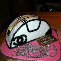 Chanel Handbag Cake   Chanel themed handbag cake (Aug 2011)