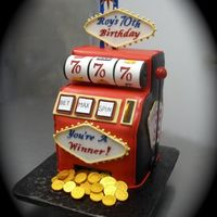 Slot Machine Birthday Cake This slot machine cake took a lot of pre planning because I had to make all the decorations out of sugarpaste (before I baked and iced the...