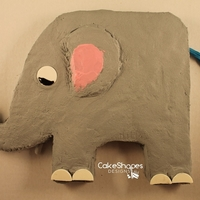 Elephant Cake By Cakeshapesdesigns I'm not a professional cake decorator. Here's my Elephant Cake. I created the cut up cake pattern for this cake. It only requires...