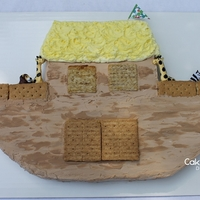 Noah's Ark Cake By Cakeshapesdesigns I'm not a professional cake decorator. Here's my Noah's Ark Cake. I created the cut up cake pattern for this cake. It only...