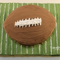 Football Cake By Cakeshapesdesigns I'm not a professional cake decorator. Here's my Football Cake. I don't use shaped cake pans or cake tips.