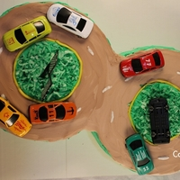 Racetrack Cake By Cakeshapesdesigns I'm not a professional cake decorator. Here's my Racetrack Cake. I don't use shaped cake pans or cake tips,. I try to find...