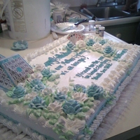 Grandmas Bingo And Cards ( In Memory Of On Her B-Day ) Full sheet. Whip creme icing