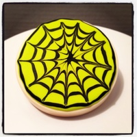 Spiderweb Iced Sugar Cookies
