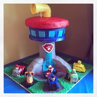 Paw Patrol Look Out Tower Cake Paw Patrol Look Out Tower cake