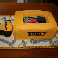 Tool Box Cake I made this as a groom's cake for a rehearsal dinner. The tools are made of modeling chocolate.