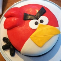 Angry Bird This was my first try at working with fondant other then the MMF. This was for a friend's 10 yr old son's birthday.