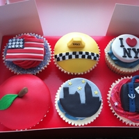 New York Cupcakes Cupcakes for a friend who is moving to NYC