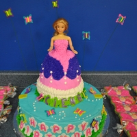 Princess Butterfly Cake I made this cake for my friend's 4 year old daughter. Mom wanted a butterfly cake but daughter wanted a princess cake. This is the...