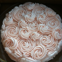 Rose Cake Made this for my friend's birthday. She loved it!