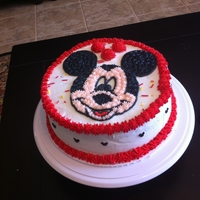 Mickey Mouse Cake Mickey Mouse Cake to go with Cupcakes