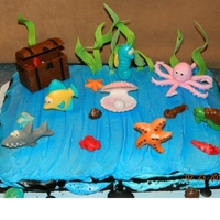 Sea Life Cake Sea Life Cake I made for a customer. My customer provided me with the cake and I decorated the cake and some cupcakes for her daughter&#039...