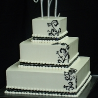 Black Damask With Ribbion