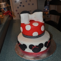 Minnie Mouse Cake This was my 2nd time using fondant as well as making a 2 layer cake. I used homemade MMF. I was very pleased with the results!