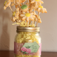 Daisy Bouquet In A Mason Jar Sugar Cookies