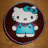 Hello Kitty   chocolate on chocolate cake with a bct