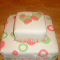 Yellow Cake Covered In Mmf And Decor Is Mmf   made this cake for a girl scouts christmas party.yellow cake mmf