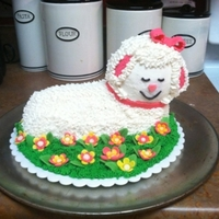 Baby Lamb Cake 3D Lamb cake, using the Wilton 3D Lamb Cake Pan. Used the small flower drop tip (#106) for the body, I used the grass tip (#232) for the...