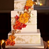 Autumn Wedding Cake   Photo Credit: Julie C Butler Photography