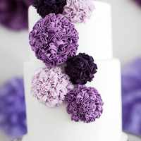 Purple Pom Poms   Pom Pom themed cake