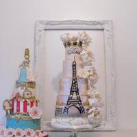 Paris Themed Wedding Cake *