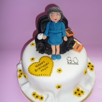 90Th Old Lady Cake