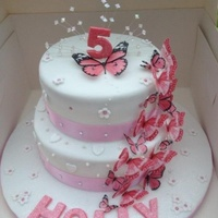 Girly Butterfly Cake..
