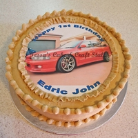 Car Picture Cake