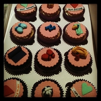 Fitness Themed Cupcakes