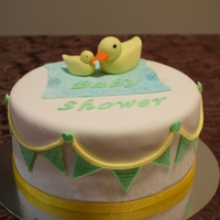 Baby Shower Cake Baby Shower cake with mommy and baby duck