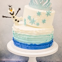 Silly Olaf Frozen Birthday Cake