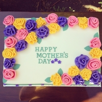 Mothers Day Ruffled Rose Cake