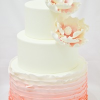 {Blushing Bride} Wedding Cake