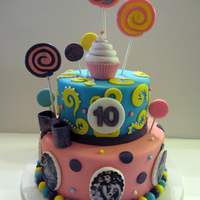Katy Perry Inspired Cake Edible Katy Perry Images, Gumpaste & Fondant Decorations