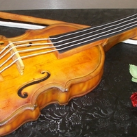 Violin Cake   violin cake for the phoenix symphony