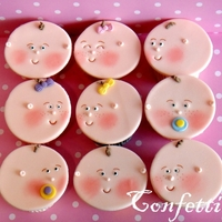 Hello,baby! Baby faces cupcakes for a baby shower. TFL!