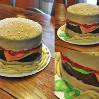 Cheeseburger Cake Made this for the fun of it.... :)