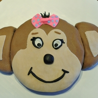 Monkey Cake! Love This One! :) I even gave her hair! <3