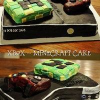 Minecraft Cake This is an Xbox 360 cake that I made for a surprise birthday party, and I just had to add the person's favorite thing... which is...
